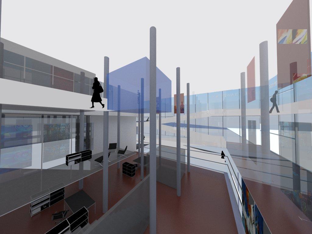 3- geschossige Galerie