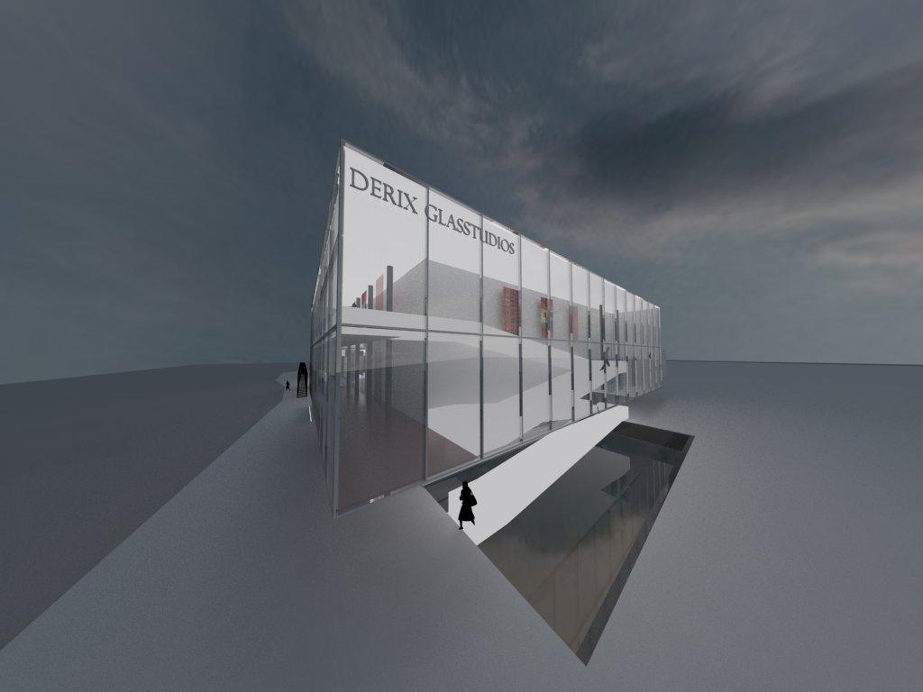 Zugangsbereich – Rampe und Spiegelfläche